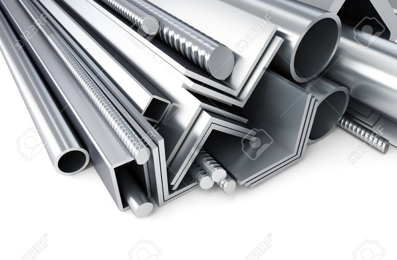 55822159-metal-pipes-angles-channels-squares-3d-rendering-on-a-white-background